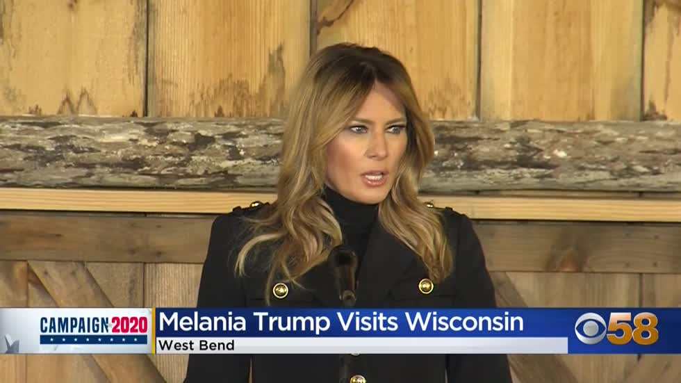 Melania Trump rallies conservative voters in West Bend: 'My husband is here to make a difference'