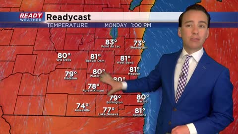 Warmest temps of the year arrive for Memorial Day with an isolated rain chance