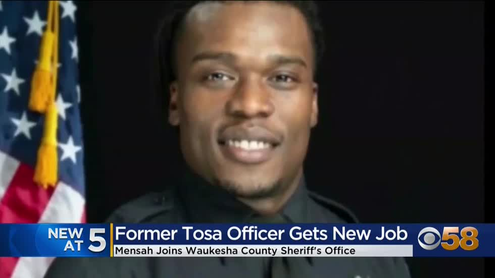 Former Wauwatosa officer Joseph Mensah sworn in as Waukesha County deputy