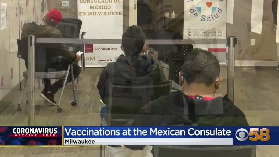 Mexican Consulate hosts vaccine clinic for Milwaukee community...