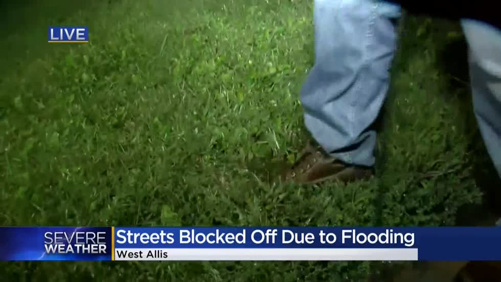 Flooding, high water in West Allis closes roads Friday morning