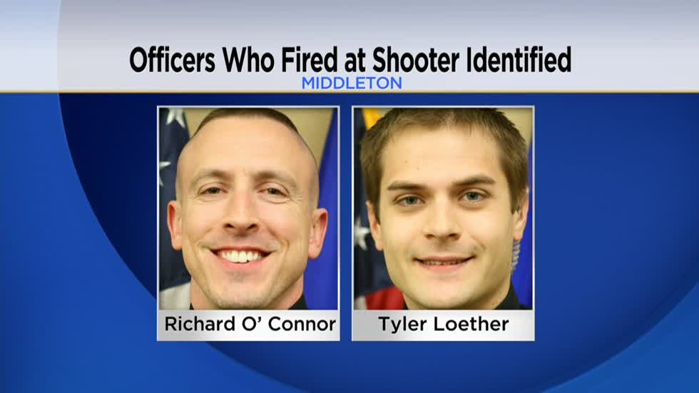 Officers who fired at active shooter in Middleton identified