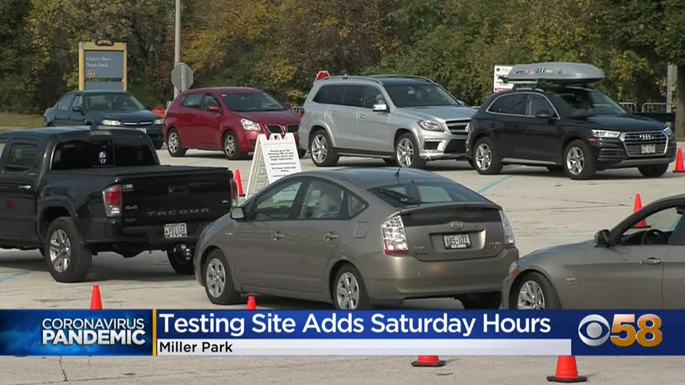 Miller Park COVID-19 drive-thru, walk-up testing adds Saturday hours