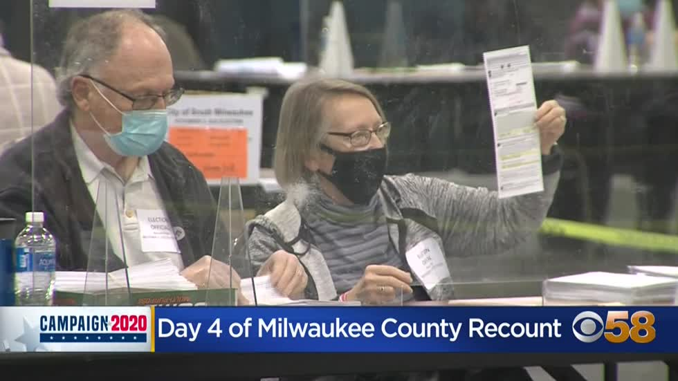 Milwaukee County recount grinds on into 4th day; 'We will be...