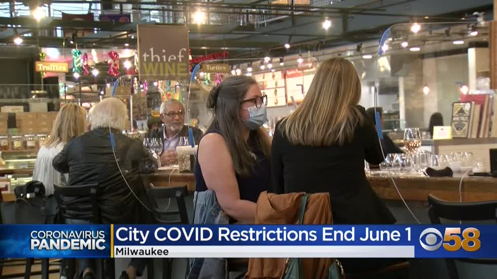 City of Milwaukee to end COVID-19 restrictions June 1