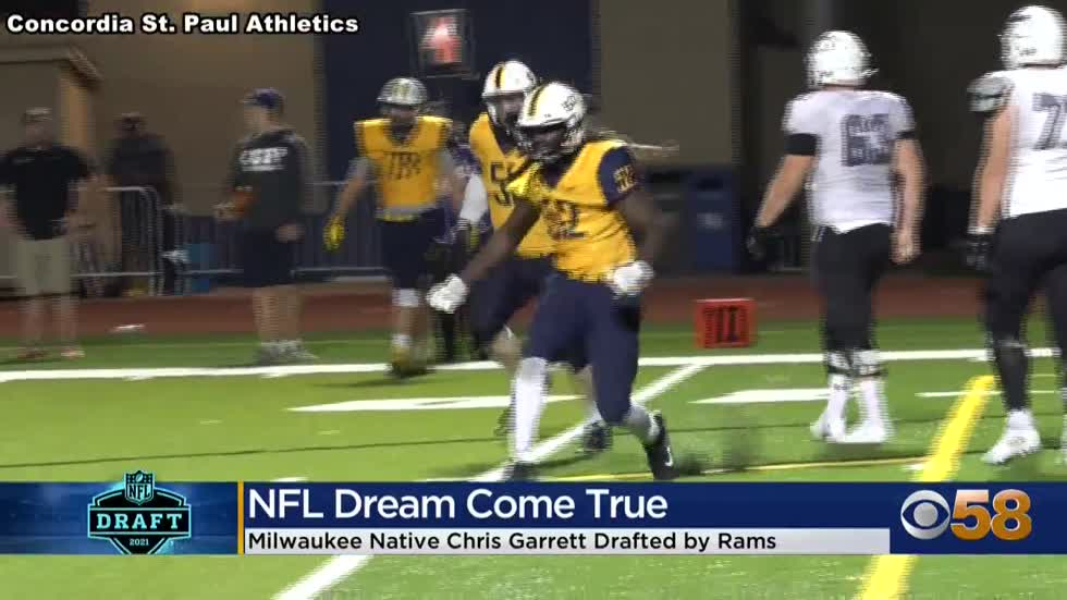 Milwaukee native Chris Garrett is drafted by the LA Rams