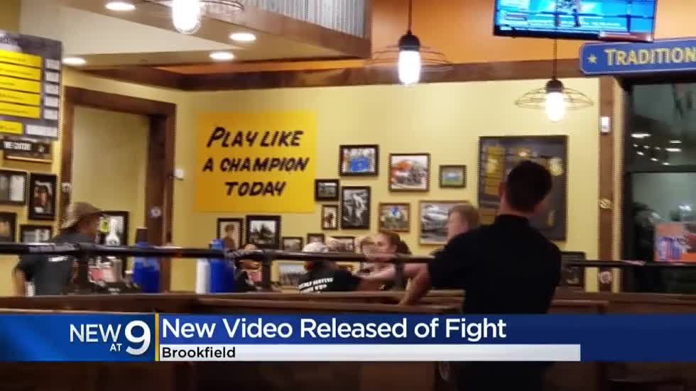 Brookfield police release video of employee fight at Mission BBQ