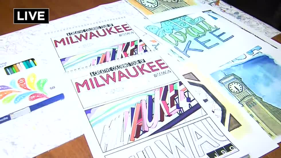 Put some color into your world with a new Milwaukee Coloring Book