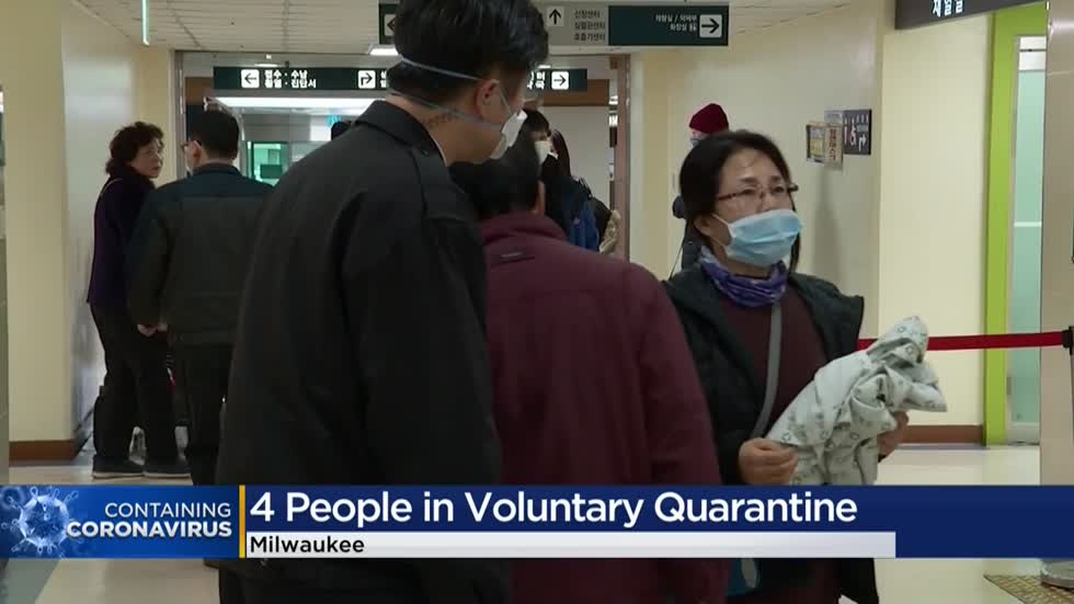 City of Milwaukee monitoring 4 people for possible exposure to coronavirus after visiting China