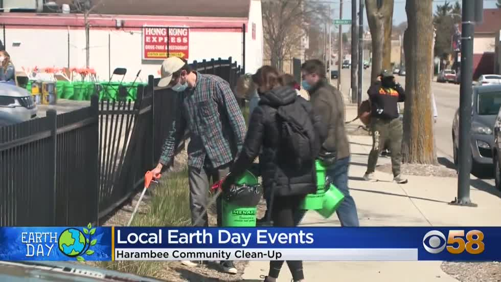 Several groups come together to clean-up Milwaukee neighborhoods...