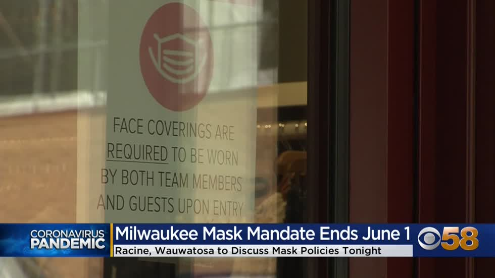 Southeastern Wisconsin cities scrap mask mandates, citing CDC...