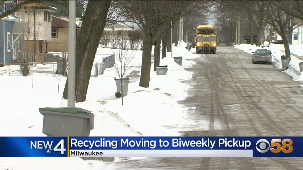 Milwaukee moves city recycling to biweekly pickup beginning June...