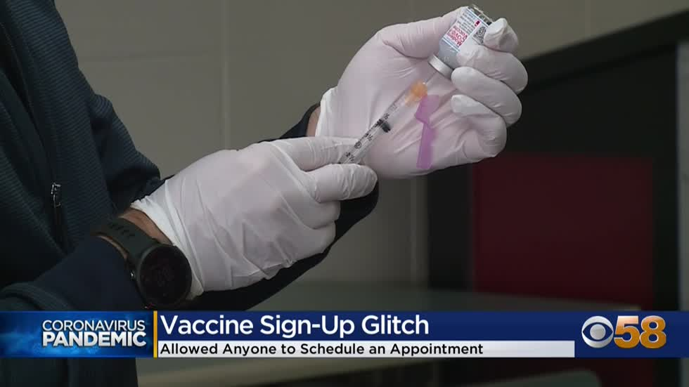Milwaukee Health Department says software glitch allowed people who aren't eligible to sign up for vaccine