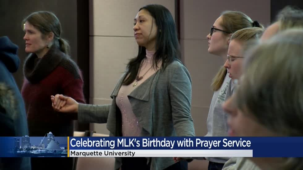 Marquette University commemorates MLK Jr.'s birthday with prayer service