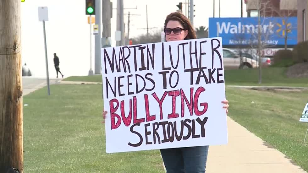 Mother protests at Martin Luther High School to stop bullying