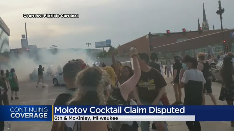 MPD: Molotov cocktail thrown at officers during protests Tuesday night, didn't ignite