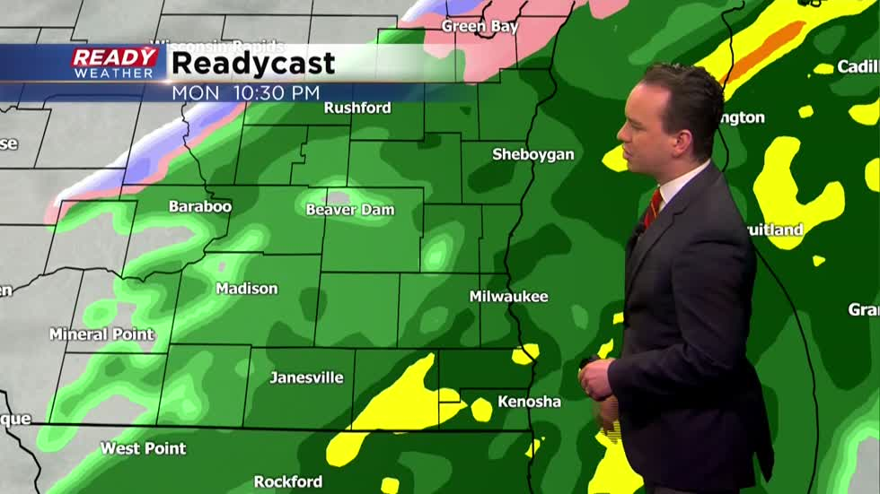 Spring-like weather continues with soaking rain Monday