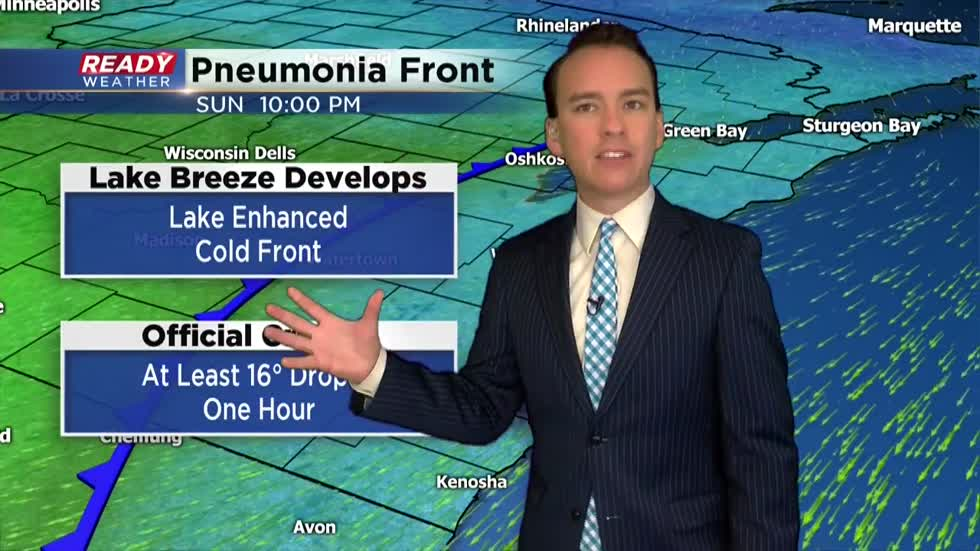 Pneumonia front sweeps in dropping temperatures after gorgeous weekend