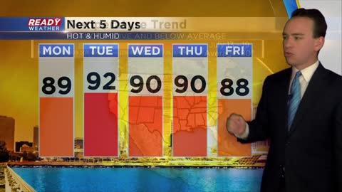 Heat and humidity continue with pop up storms
