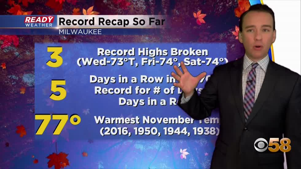 A couple more days of records before temperatures drop