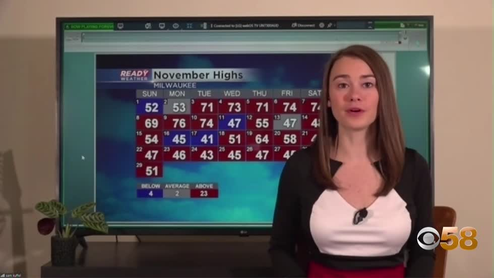Chilly end to a mild November