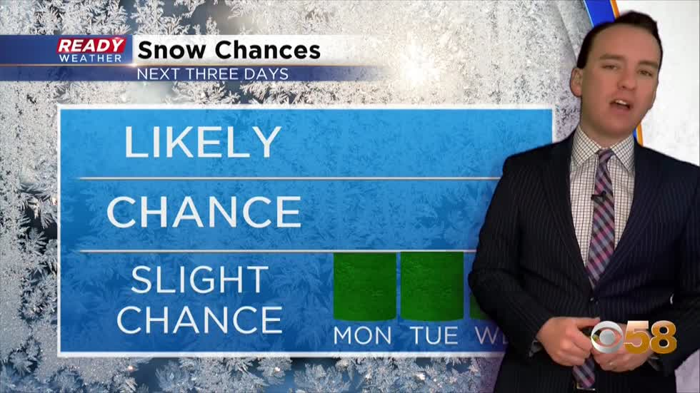 Another snow in the books; light wintry mix possible Monday and Tuesday evening