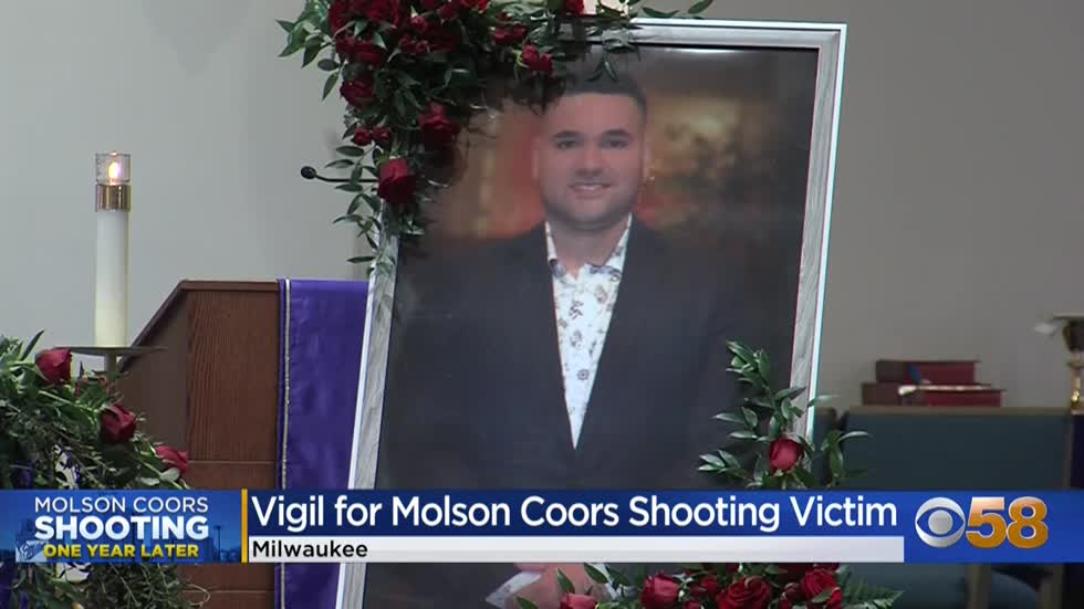 Family members hold vigil for Molson Coors victim, Jesus Valle Jr.