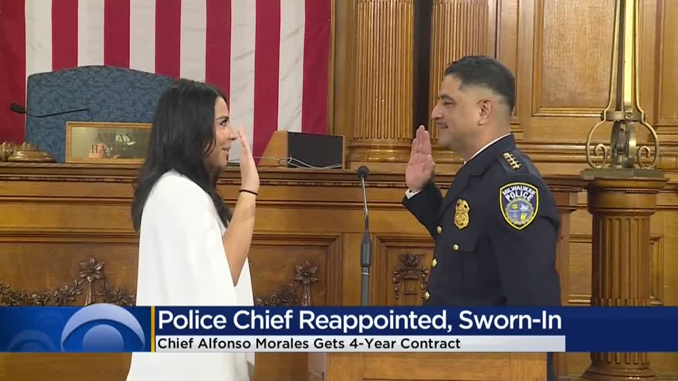 Milwaukee Police Chief Alfonso Morales sworn in for new 4-year term