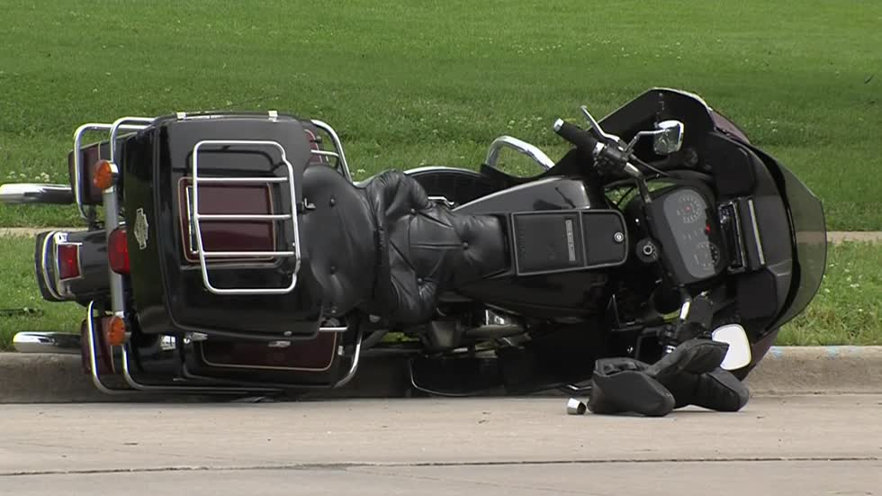 One taken to hospital after motorcycle crash near 52nd and National