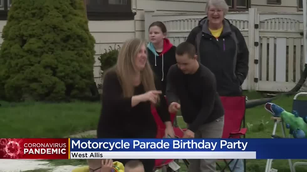 13-year-old West Allis boy celebrates birthday with motorcycle parade