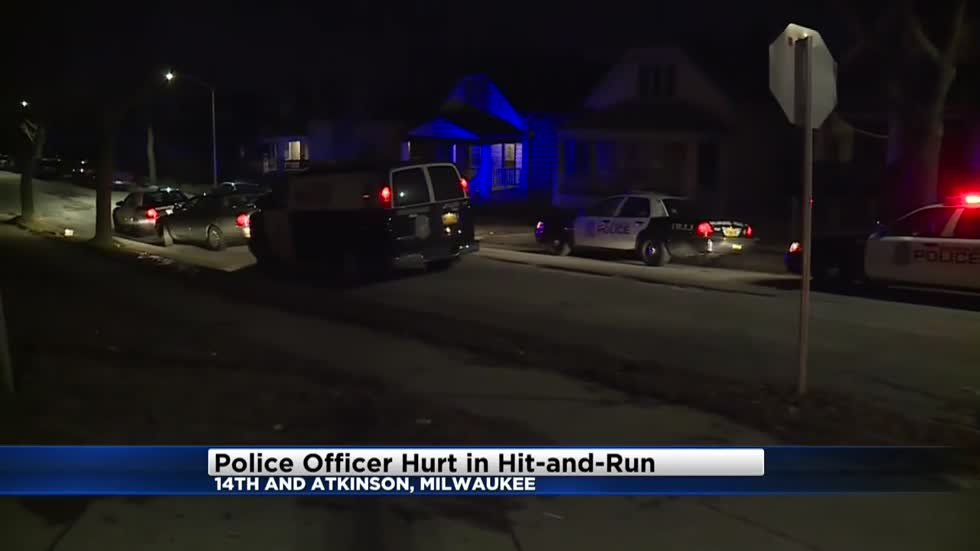 Milwaukee Police: Officer suffers minor injuries following hit-and-run accident near 14th and Atkinson