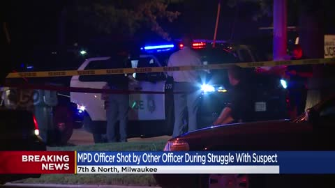 MPD officer accidentally shot by arresting officer near 6th and...
