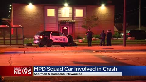 MPD squad involved in crash on city's north side