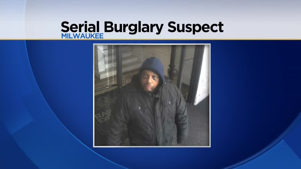 Milwaukee Police release surveillance photo of suspect wanted in connection with four burglaries