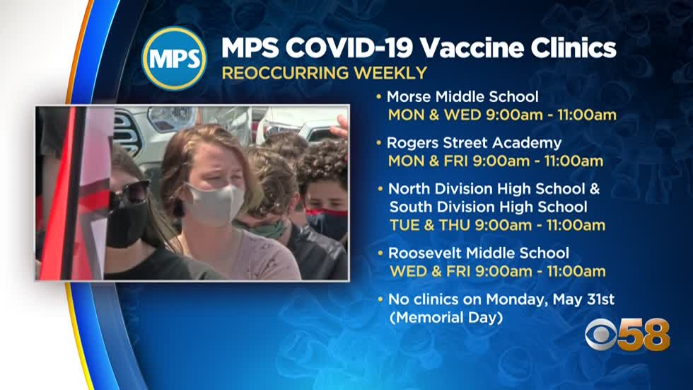 MPS hosting walk-in vaccine clinics starting Monday