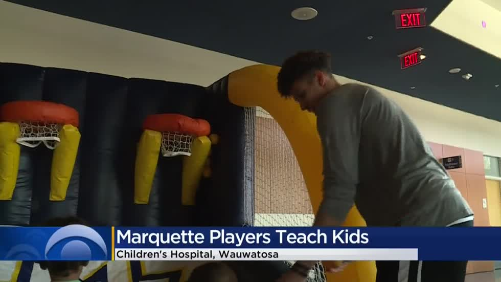 Marquette players bring basketball camp to kids at Children's Hospital