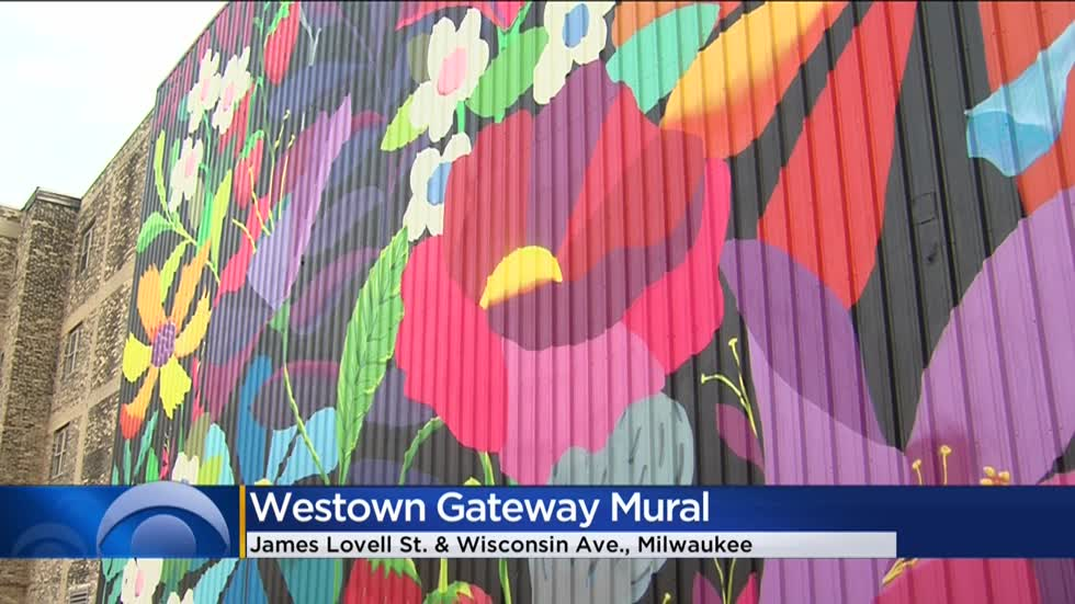 Milwaukee's Westown neighborhood blossoms with new gateway mural