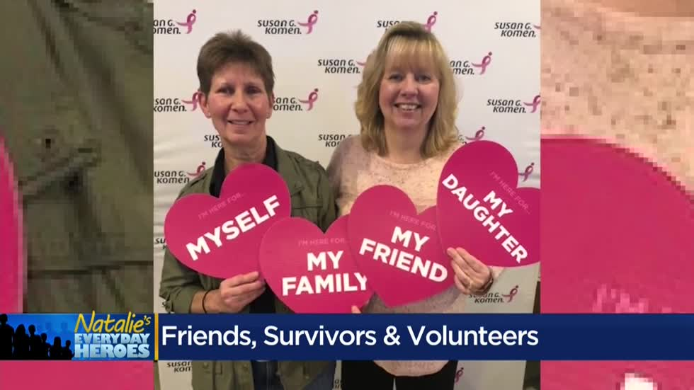 Natalie's Everyday Heroes: Breast cancer survivors and Komen volunteers Maxine Fleury and Bonnie Kiss