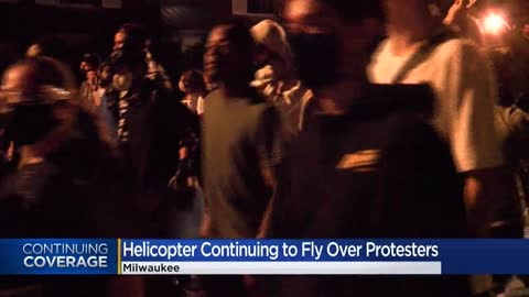 National Guard helicopter flies over area protests at request of Milwaukee Police Department