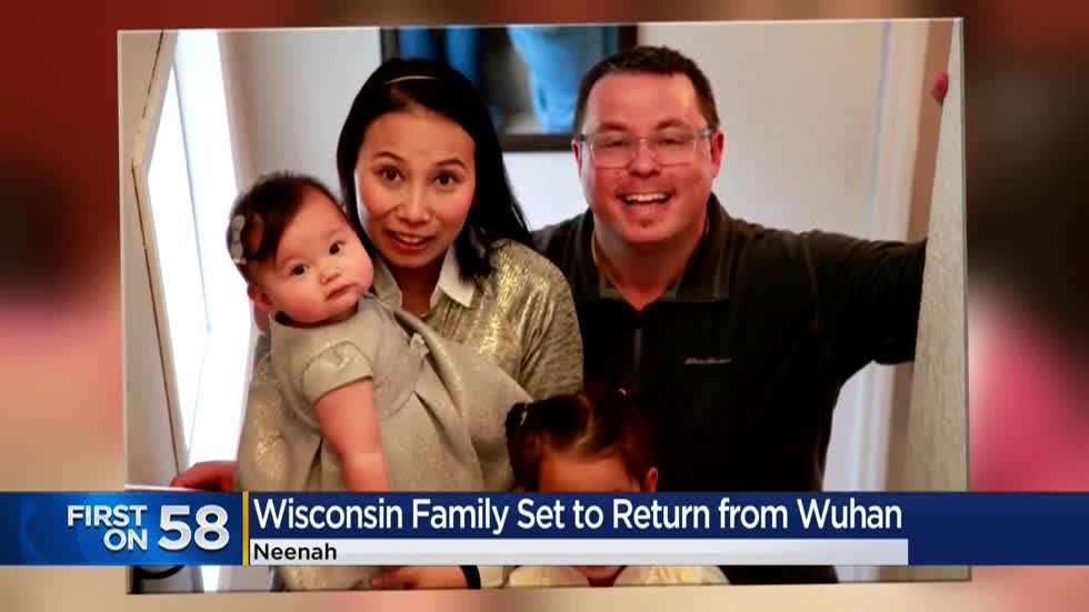 Wisconsin family set to return from Wuhan, China