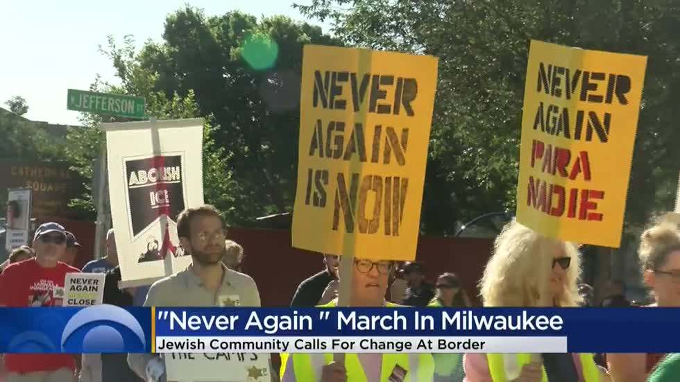 Group marches downtown Milwaukee to protest ICE, immigration policies