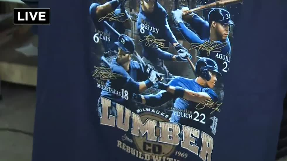 Two new Brewers t-shirts released, one featuring Milwaukee Lumber Co.