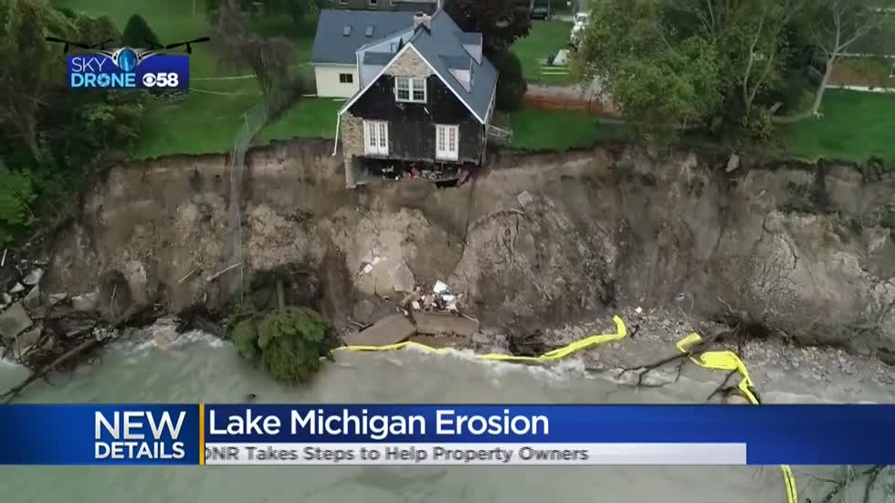 As Lake Michigan pushes into yards, DNR expedites process for homeowners to block it
