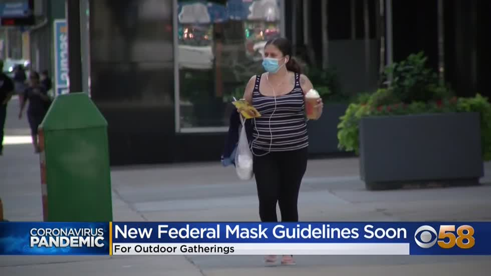New CDC guidelines expected on wearing masks outdoors; doctors advise carrying one at all times