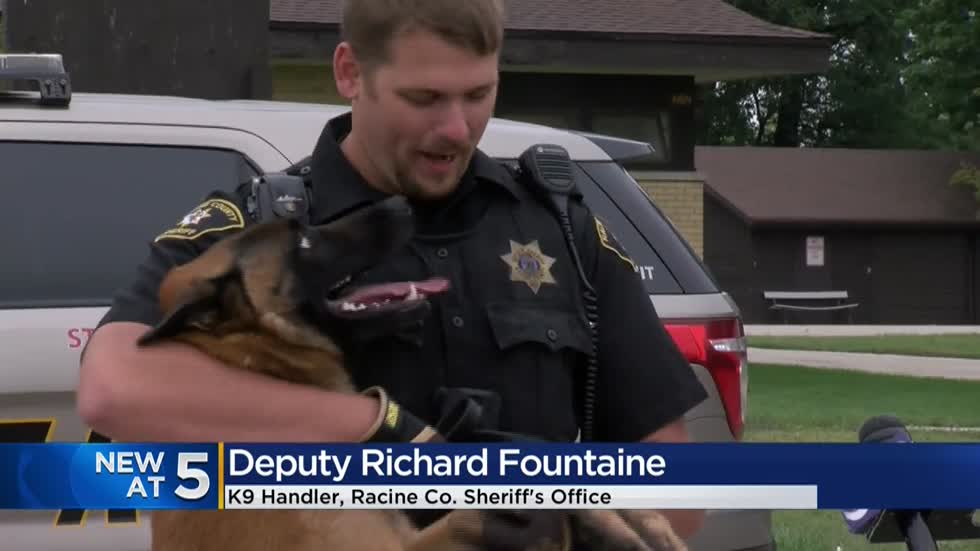 Racine Co. Sheriff's Department introduces 'Bryx,' newest member of K9 team