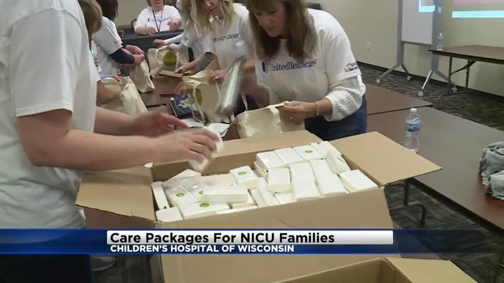 Volunteers make NICU care packages