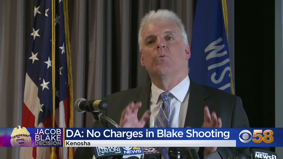 Kenosha officer will not face charges in shooting of Jacob Blake