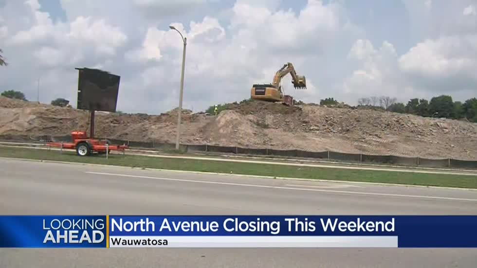 North Avenue at I-41 in Wauwatosa will be closed for construction evening of July 10-12
