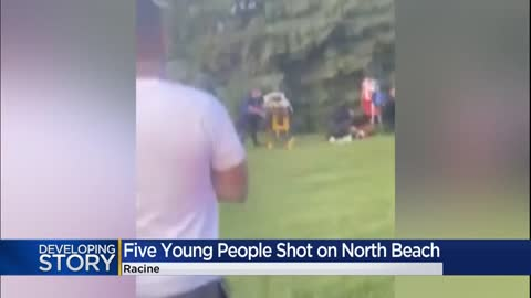 'Frantic... over 40 shots:' Witness recounts shooting that injured 5 on Racine's North Beach