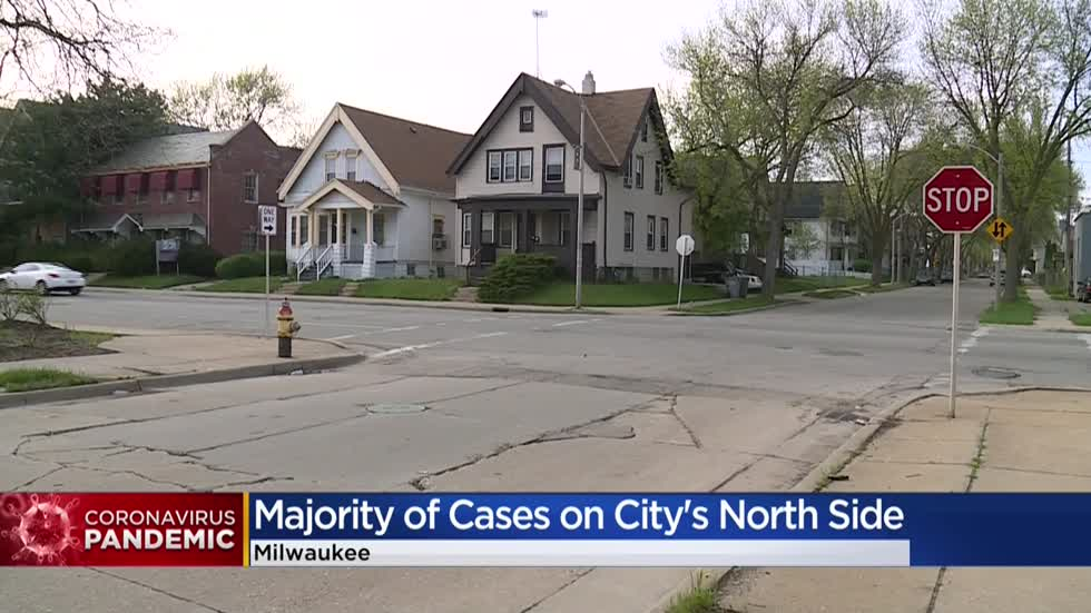 'Hit hard:' Majority of coronavirus cases on Milwaukee's north side, African-American community